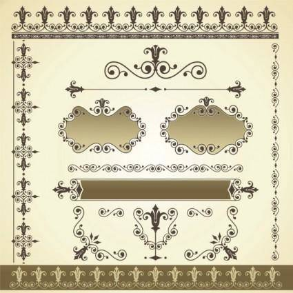 Beautiful lace pattern 03 vector