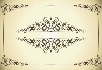 free vector Beautiful lace pattern 04 vector