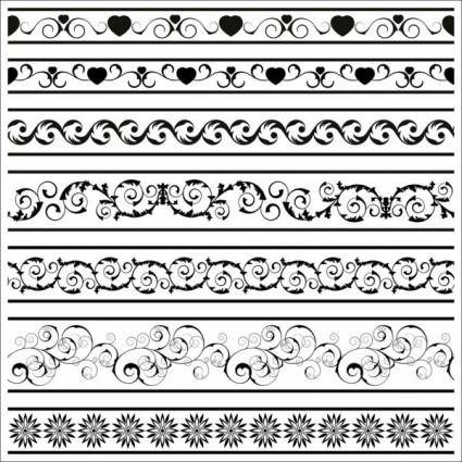 Black and white patterns 05 vector