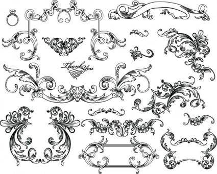 free vector European gorgeous color pattern vector 5