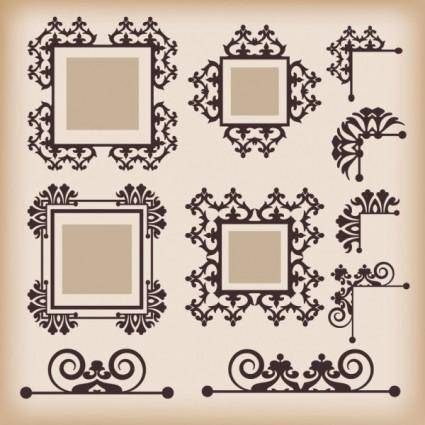 free vector Classic european pattern 09 vector