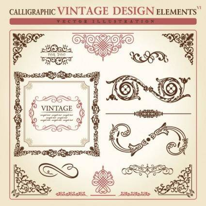 European classic lace pattern 03 vector