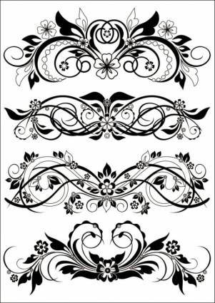 Traditional black and white pattern vector