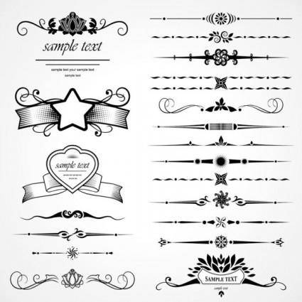 free vector European classic pattern 2 vector