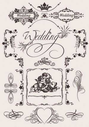 Europeanstyle wedding pattern vector