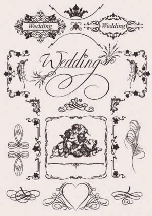 free vector Europeanstyle wedding pattern vector