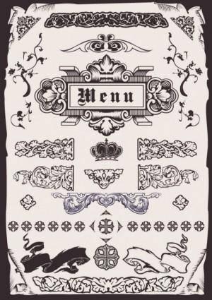 free vector Europeanstyle menu pattern vector
