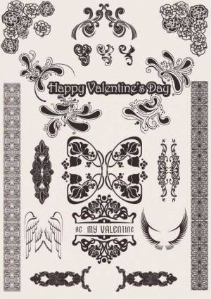 free vector Europeanstyle love pattern vector