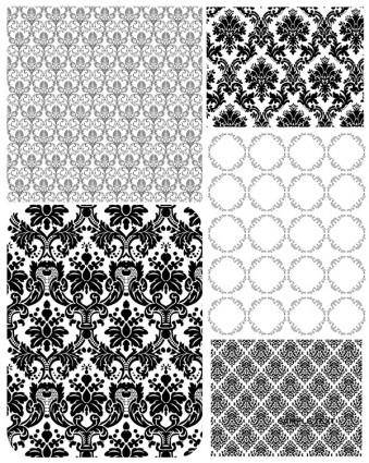 5 europeanstyle lace pattern vector