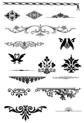 European gorgeous pattern element vector 23611