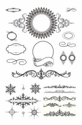 Several europeanstyle lace pattern vector