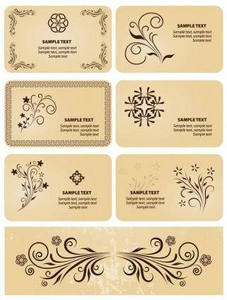 free vector Several patterns element vector