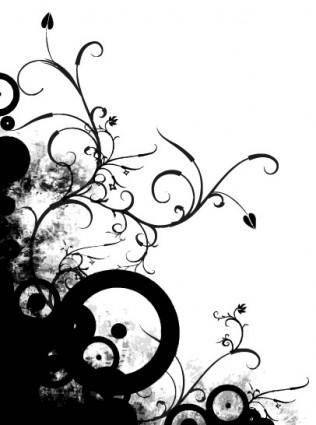 free vector Elements of the trend pattern lace silhouette