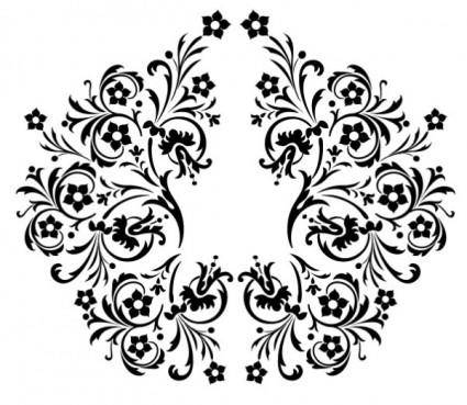 Beautiful black and white pattern vector