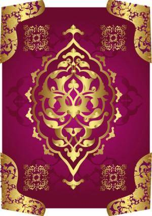 Classical gold pattern 01 vector