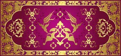 Classical gold pattern 05 vector