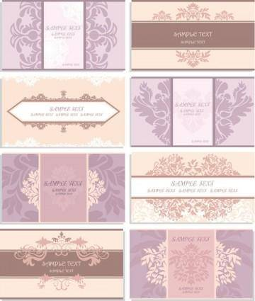 free vector Patterns card template vector