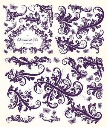 European gorgeous beautiful pattern vector