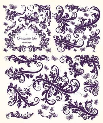 European gorgeous beautiful pattern vector