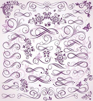 free vector Purple fine pattern vector
