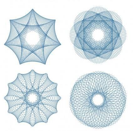 Fine anticounterfeit pattern 01 vector
