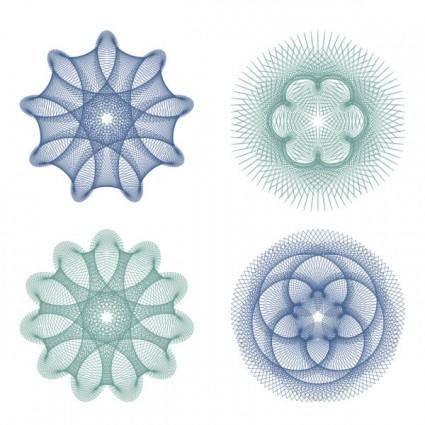 free vector Fine anticounterfeit pattern 04 vector