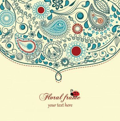 free vector The trend of handpainted pattern vector