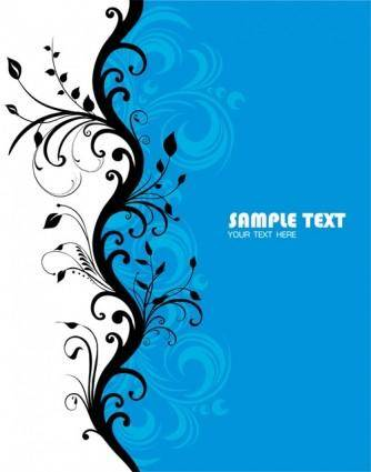Blue fashion pattern vector