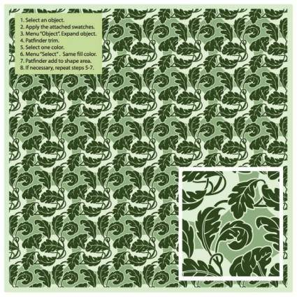 Green leaf pattern vector