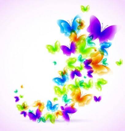 Colorful butterfly pattern 03 vector