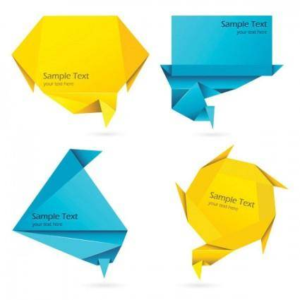 Colorful origami decorations vector graphics 5