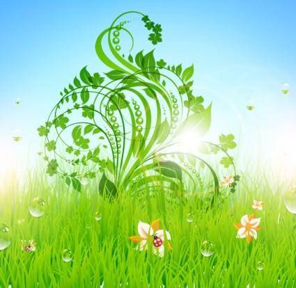 Pattern of green grass 04 vector