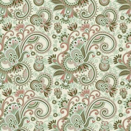 Beautiful handpainted pattern vector 4