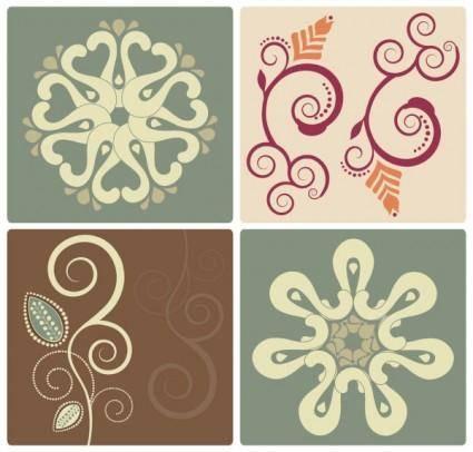 free vector Elegant pattern 01 vector