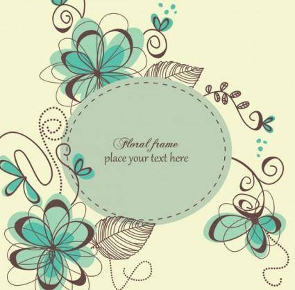 free vector The trend of handpainted pattern vector 2