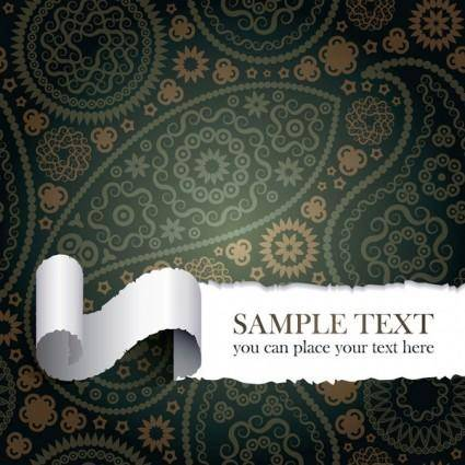 free vector Tear the paper pattern vector
