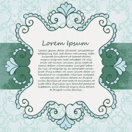 Beautiful lace pattern 04 vector