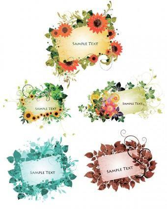 Vector lace pattern cards