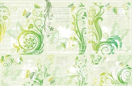 Green butterfly pattern vector