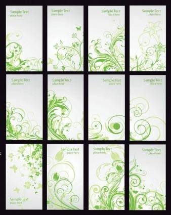 free vector Pattern card template vector fashion