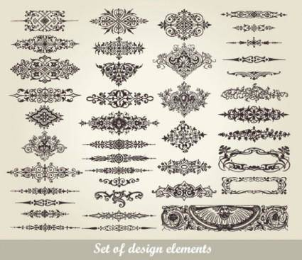 free vector European pattern garland 02 vector