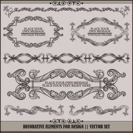 free vector European pattern garland 03 vector