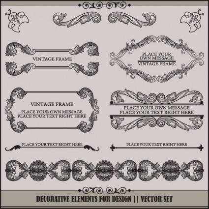 European pattern garland 04 vector
