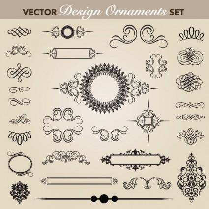 European pattern garland 05 vector