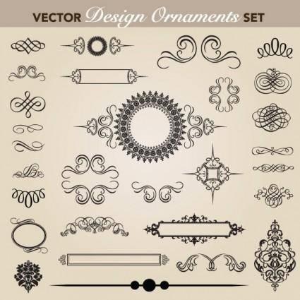 free vector European pattern garland 05 vector