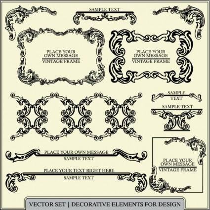 free vector European pattern of patterns 01 vector