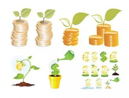 free vector Kinds of money vector