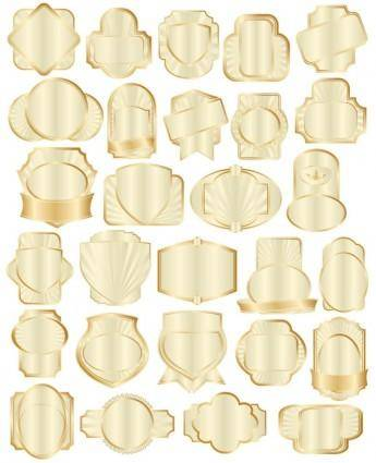 free vector Gold collection bottle attached 01 vector