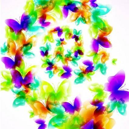 Colorful butterfly pattern 01 vector