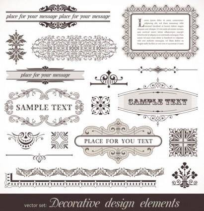 European pattern frame 01 vector
